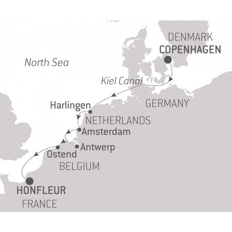 Map for History, Art & Architecture along the North Sea