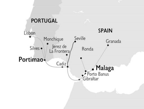 Map for Glories Of Spain & Portugal (Harmony V)