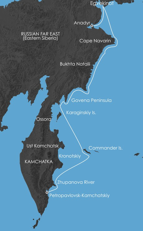 Map for Jewel of the Russian Far East