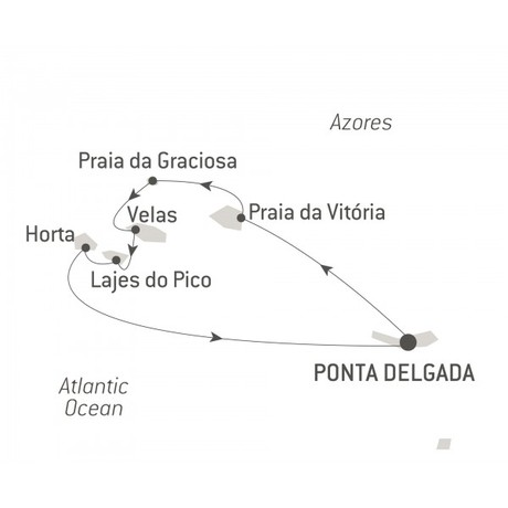 Map for The Essential Azores