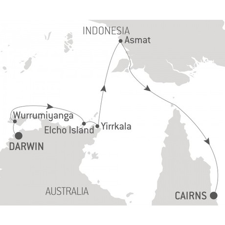 Map for Ancient Cultures of Northern Australia & Papua - with Nat Geo