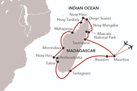 Map for Circumnavigation of Madagascar