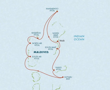 Map for Ultimate Maldives: A Snorkeling & Diving Adventure