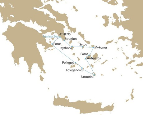 Map for Jewels Of The Cyclades