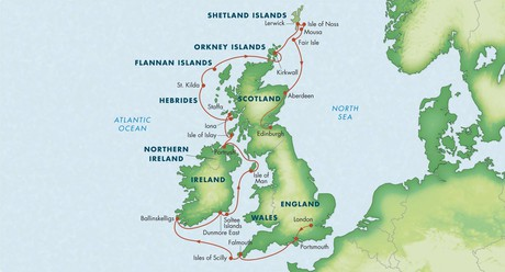 Map for Wild & Ancient Britain with Ireland