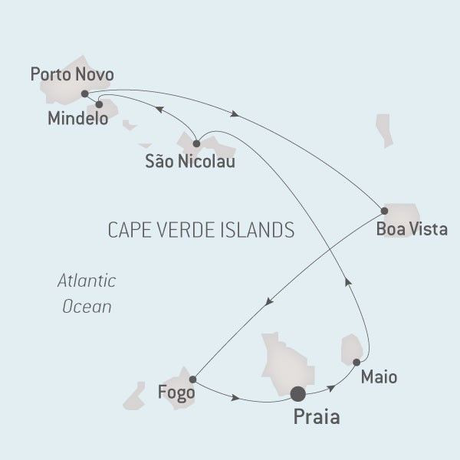 Map for Cape Verde Islands