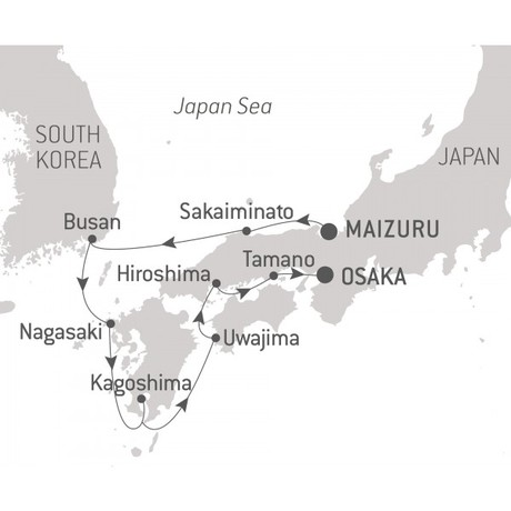 Map for The Best of Japan (Le Soleal)