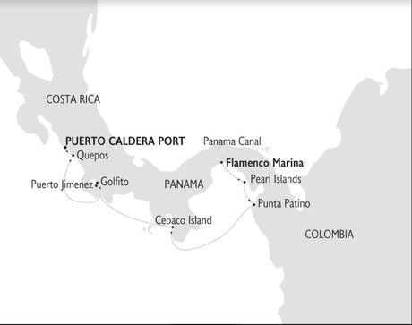 Map for Treasures of Costa Rica & The Panama (Panorama)