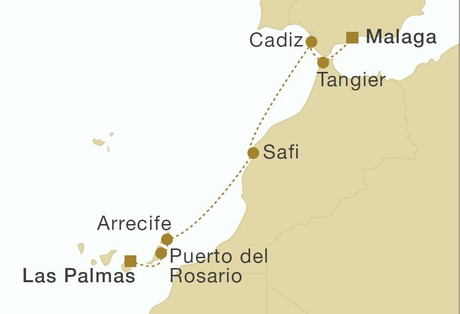 Map for Morocco & Canary Islands (Star Flyer)