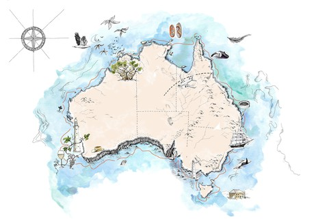 Map for 35th Anniversary Circumnavigation of Australia - 60 Days