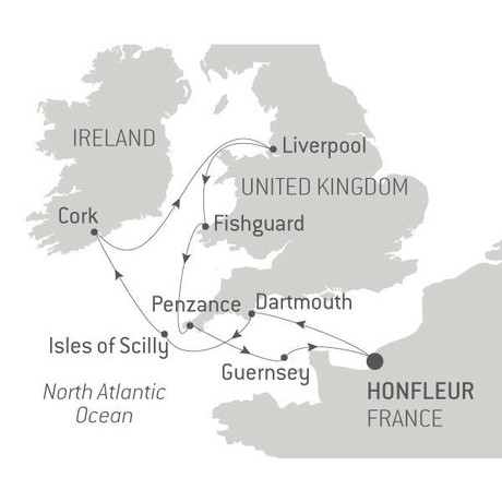 Map for Musical Odyssey on the Celtic Sea