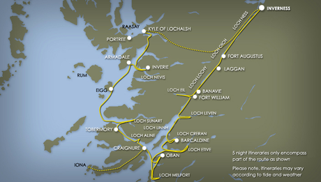 Map for Spring and Autumn in the Highlands