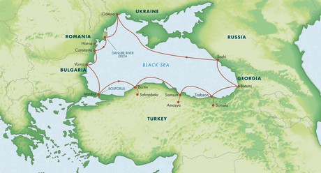 Map for Circumnavigation of the Black Sea 2020