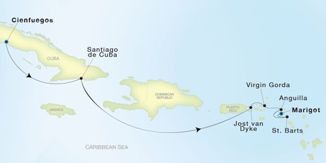 Map for Luxury Caribbean: From Cienfuegos to Marigot