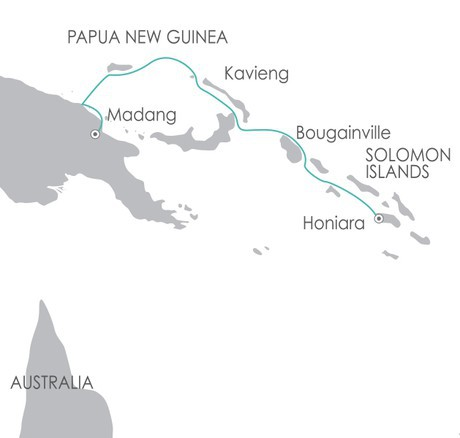 Map for South Pacific: Melanesia Discoverer 2020