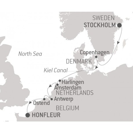 Map for A Musical Odyssey in Northern Europe