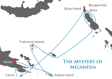 Map for The Mystery of Melanesia