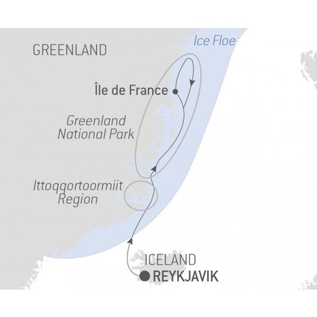 Map for Discovering the Northeast Greenland National Park - with Nat Geo