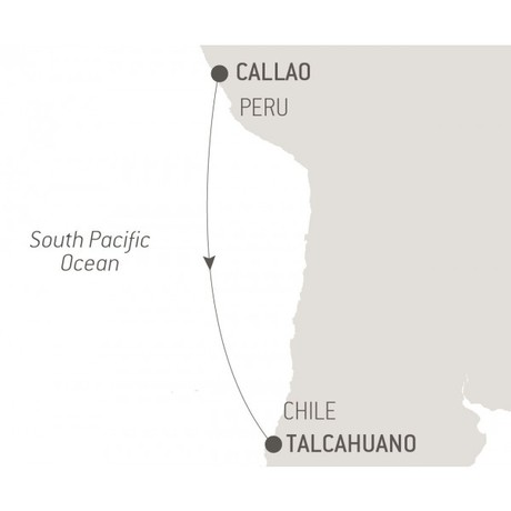 Map for Ocean Voyage: Callao - Talcahuano