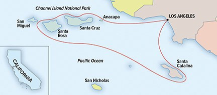 Map for Base Camp Channel Islands