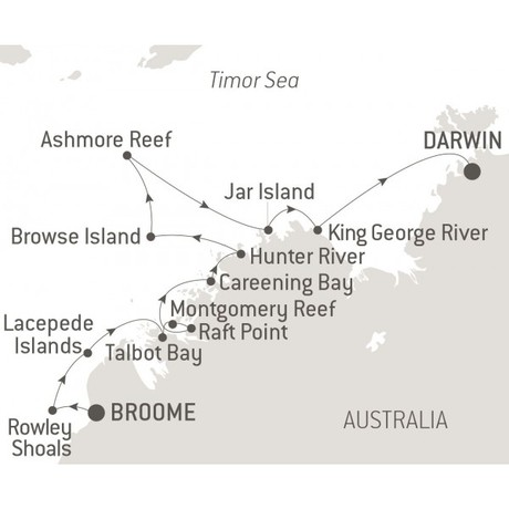 Map for Exploring the Kimberley - with Nat Geo