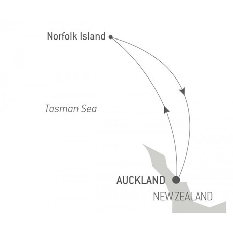 Map for Ocean Voyage: From Auckland to Auckland