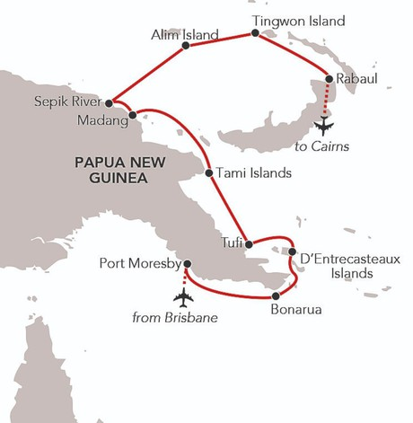 Map for Papua New Guinea - The Last Frontier (Island Sky)