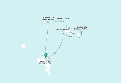 Map for Seychelles Yachting Serenade