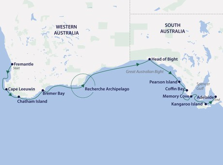 Map for Southern Australia Coastal Discovery