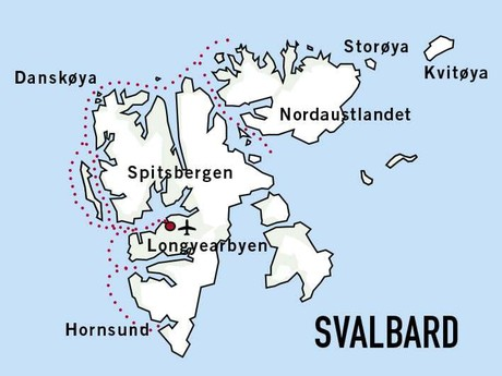 Map for Svalbard Adventure (Sjoveien)