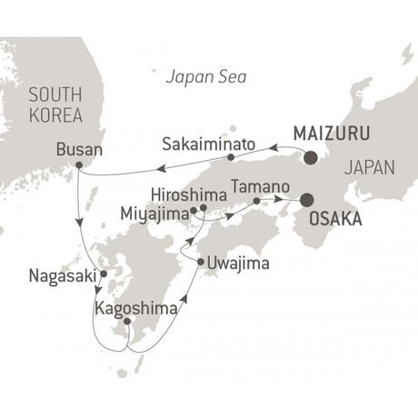 Map for The Best of Japan (Le Laperouse)