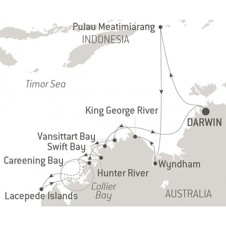 Map for The Essential Kimberley - with Nat Geo (Le Laperouse)