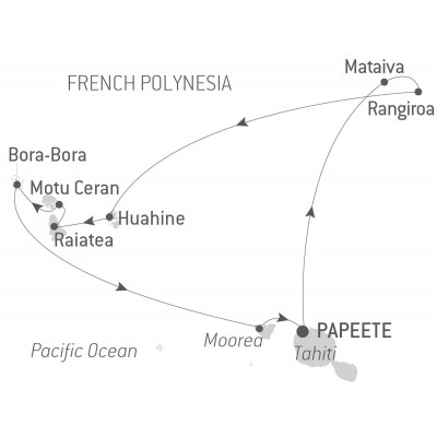 Map for Treasures of Polynesia (Le Boreal)