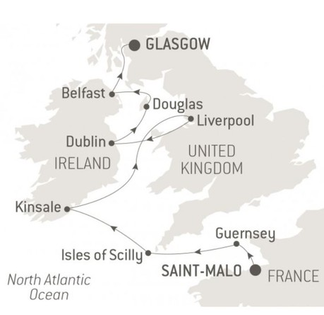 Map for Treasures of the Celtic Sea