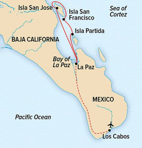 Map for Wild Baja Escape: Serenity & Sea Life in the Sea of Cortez