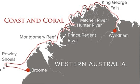 Map for Coast and Coral Voyage