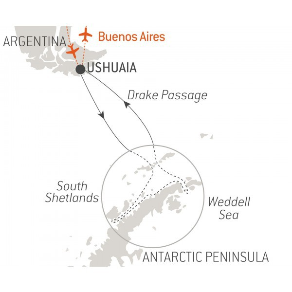 Map for Emblematic Antarctica 2020 - 2021 (Le Soleal)