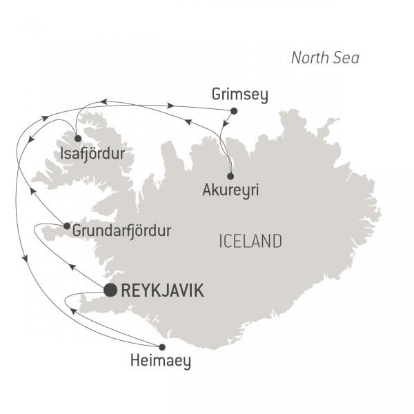 Map for Icelandic Mosaic (Le Champlain)
