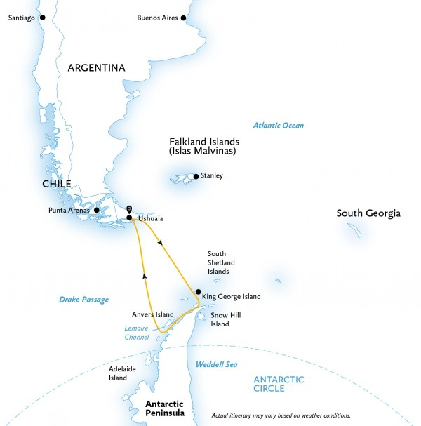 Map for Antarctic Explorer (World Explorer)