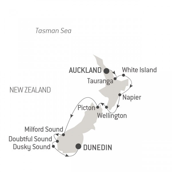 Map for The Best of New Zealand (Le Laperouse)