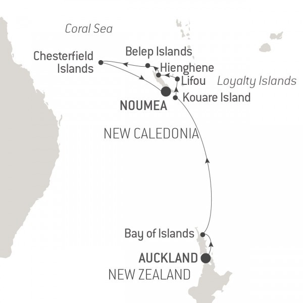 Map for Discovering the Hidden Treasures of New Caledonia