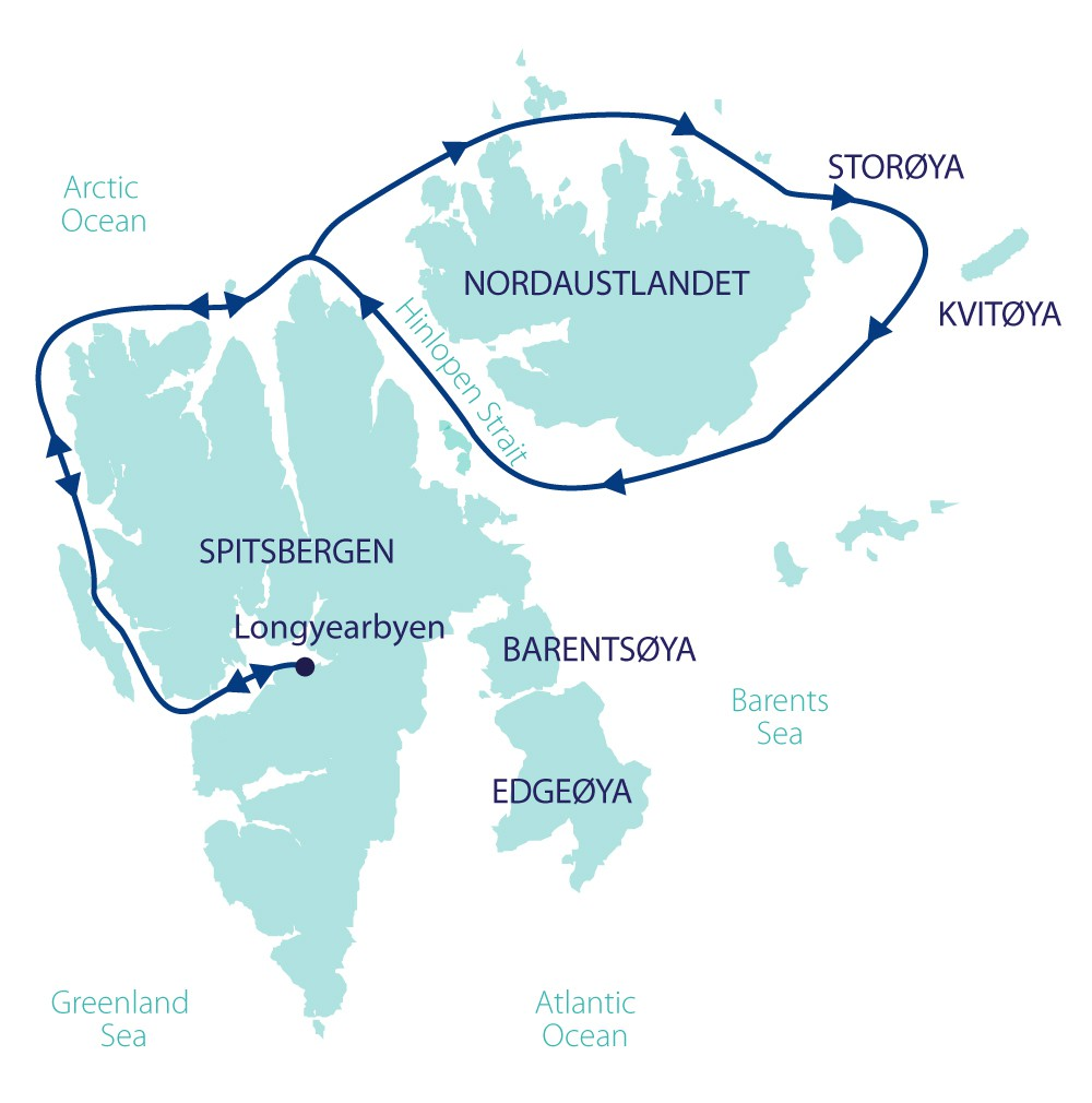 Map for Northern Svalbard Explorer