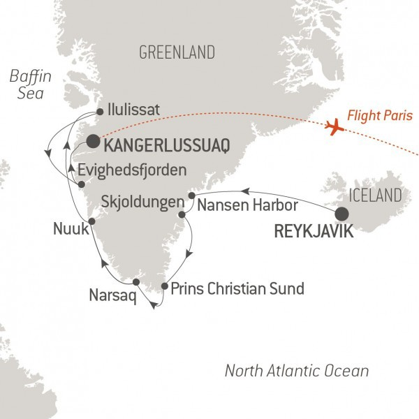 Map for Adventure in Greenland