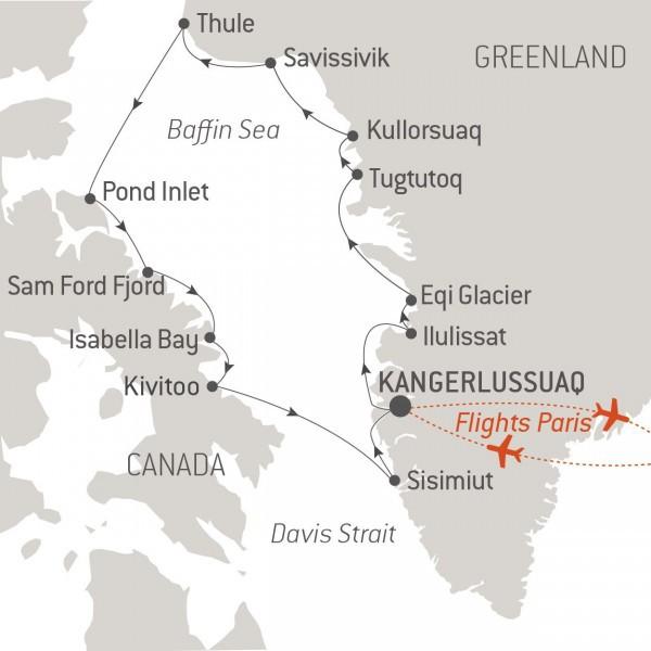 Map for Baffin Bay Secrets (Le Boreal)