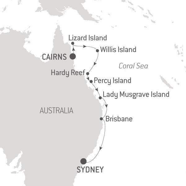 Map for Exploring Australia's East Coast Islands