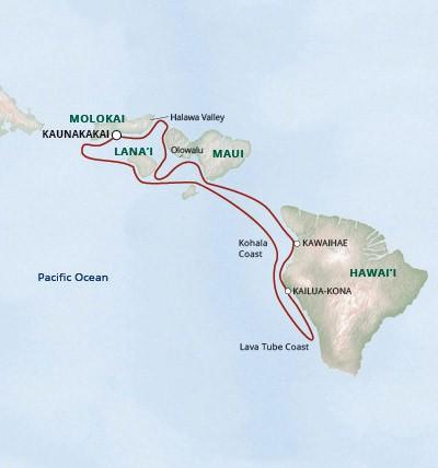 Map for Aloha Hawaii Adventure Cruise