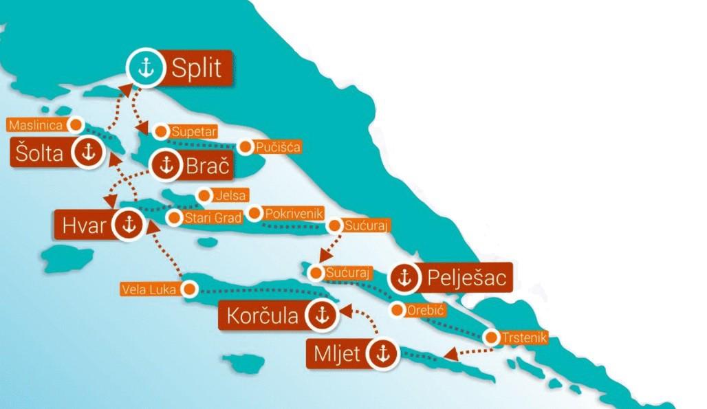 Map for Croatia Bike Cruise