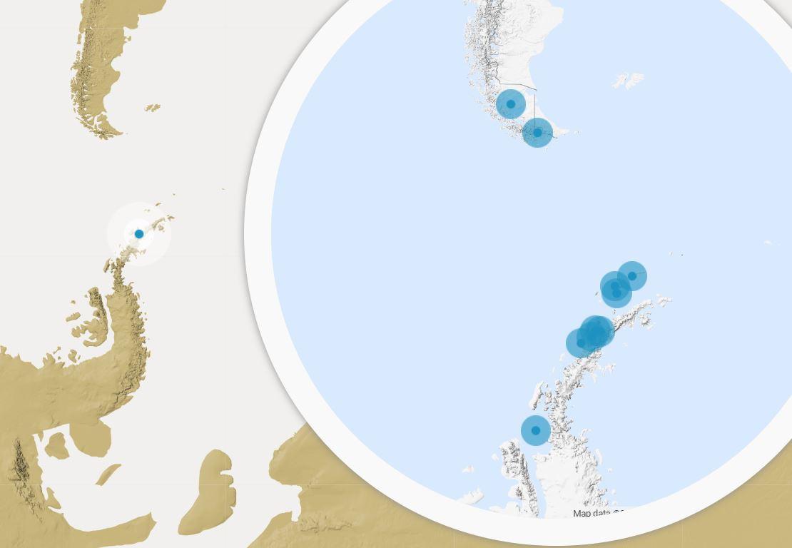 Map for Antarctic Peninsula Ecology Safari
