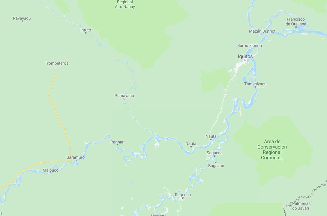 Map for Amazon River Voyage