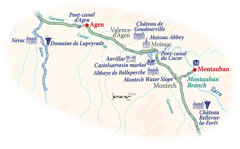 Map for Gascony Cruise (Rosa)